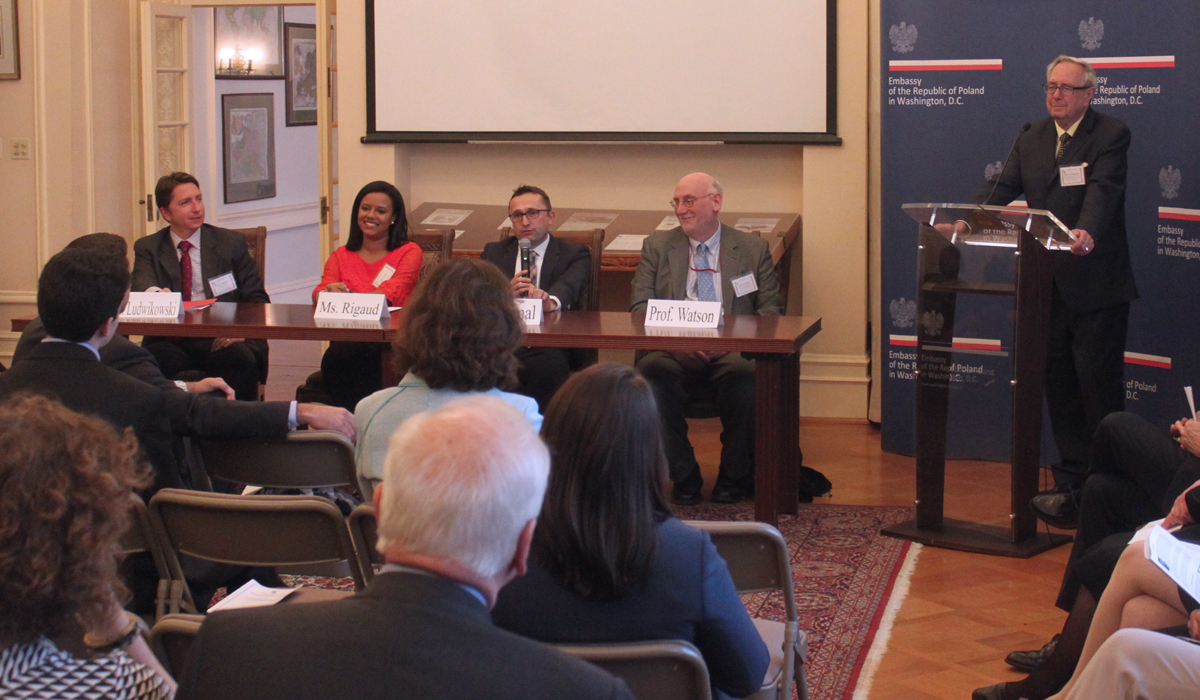 panel discussion at the polish embassy in DC