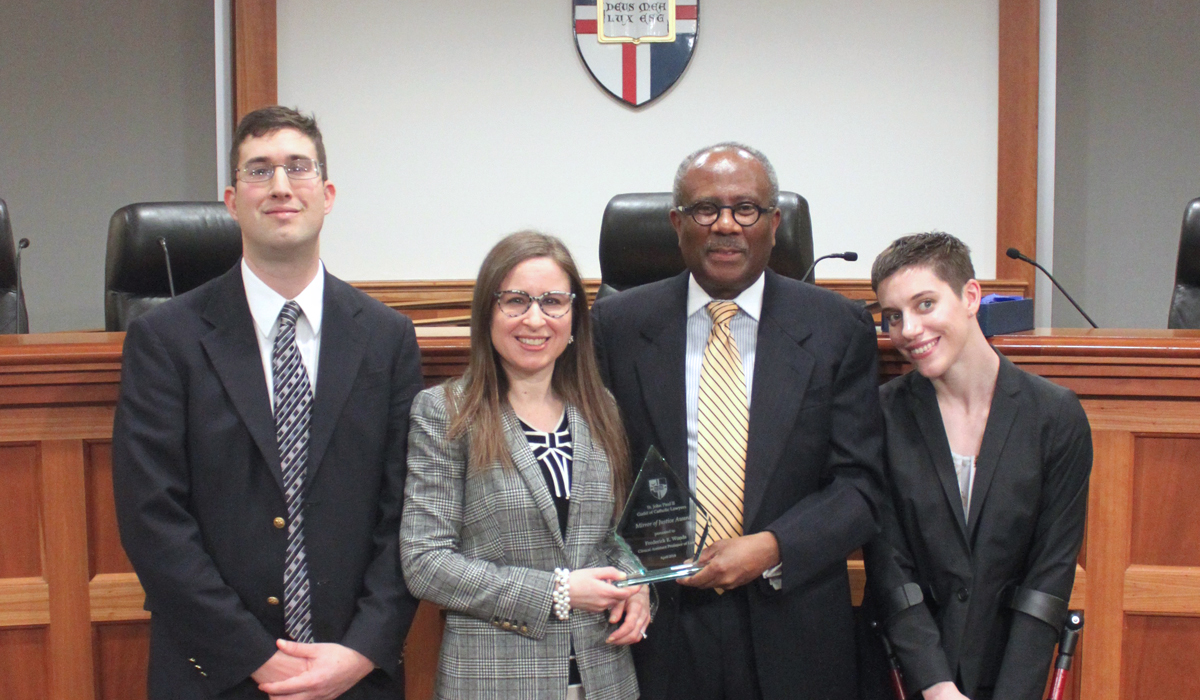 Fred Woods receives Mary Mirror of Justice award