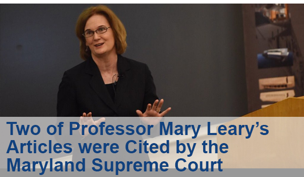 Two of Professor Mary Leary's articles were cited