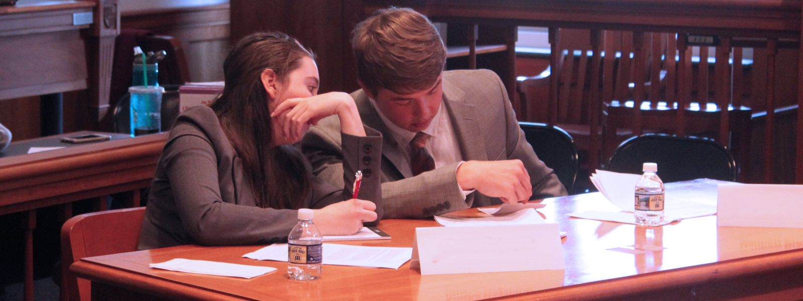 students in the courtroom