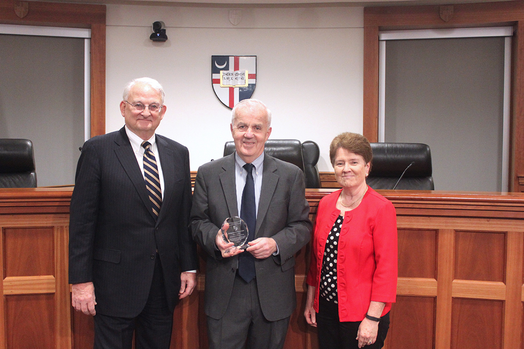 John E Higgins Jr Receives The John Fanning Center For Labor Studies Distinguished Achievement Award Columbus School Of Law The Catholic University Of America Cua