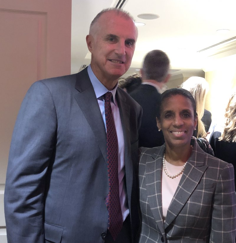 Mark Holden with Dean Regina Jefferson at the Award Ceremony